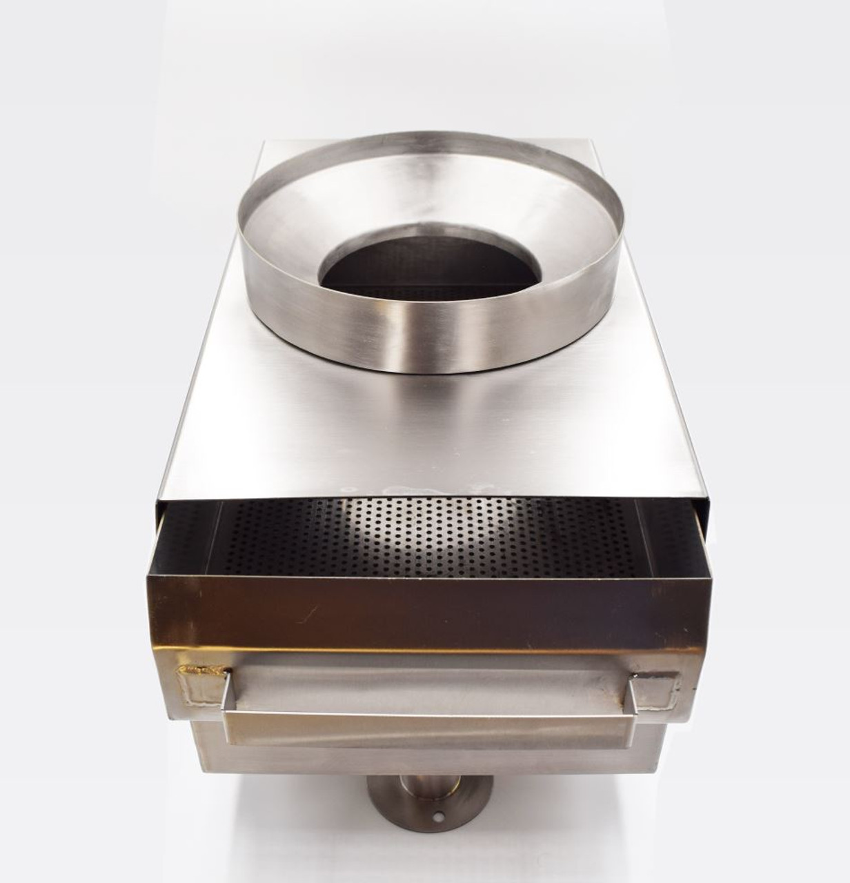 stainless steel strainer drawer for restaurant food solid collection
