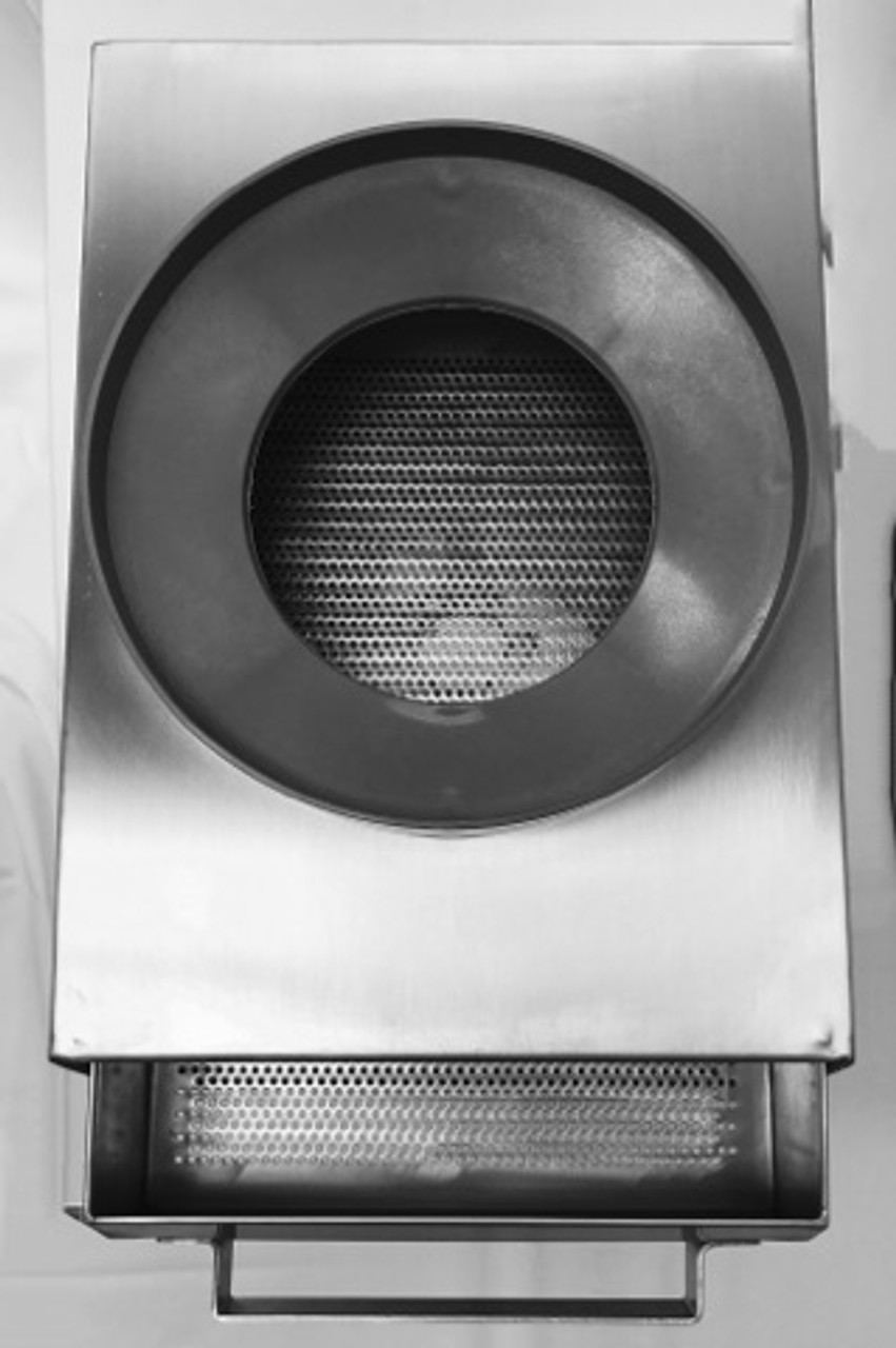 stainless steel strainer for compartment sinks solids