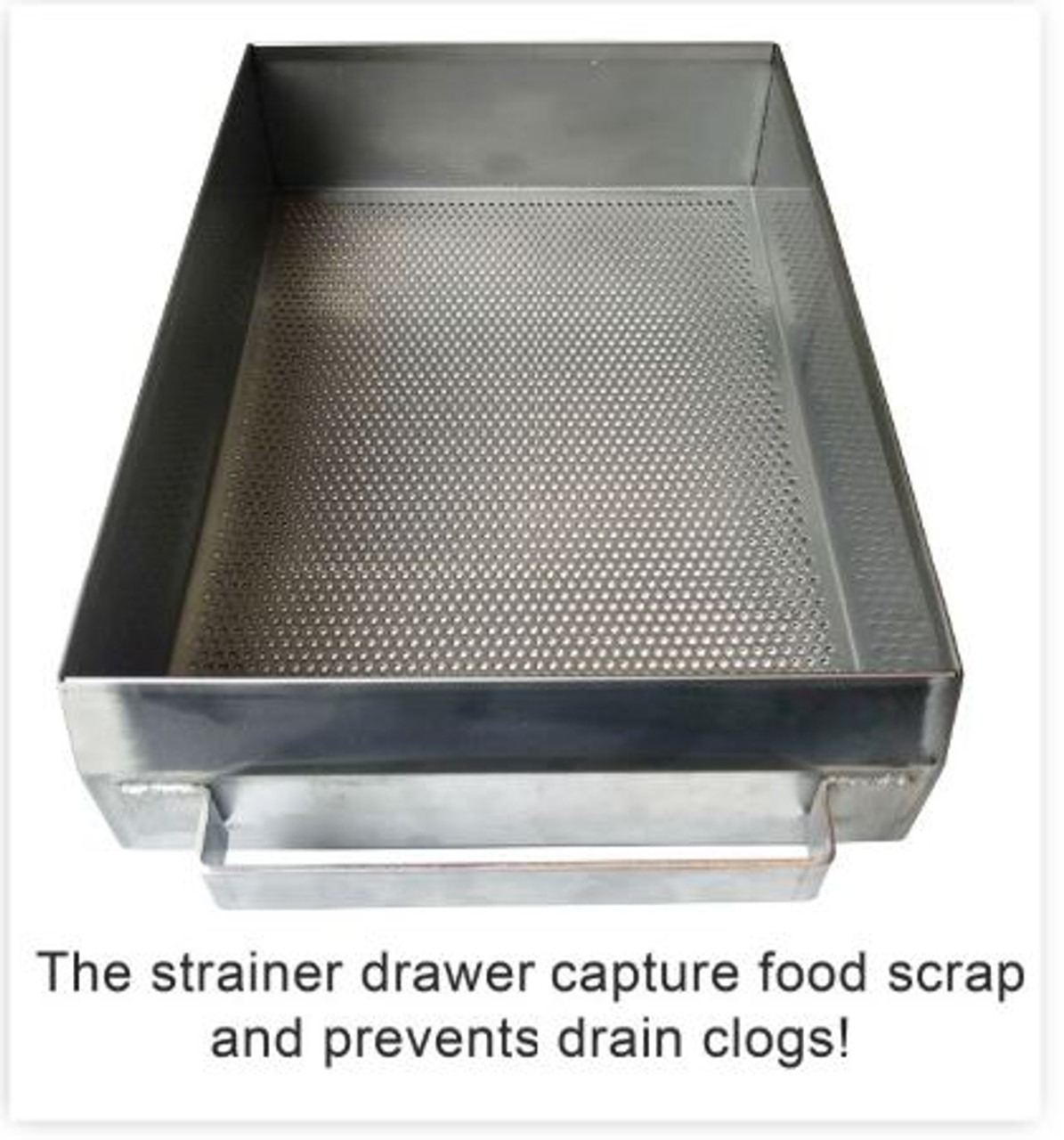 Flat strainer for compartment sinks