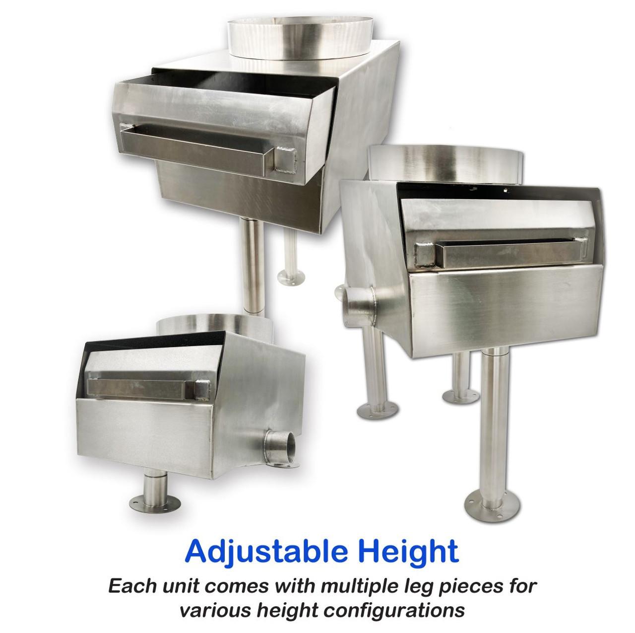Wet Waste Interceptor for commercial kitchen sinks