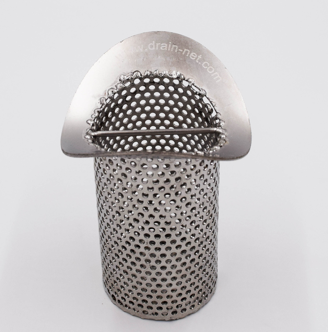 Curved stainless drain strainer