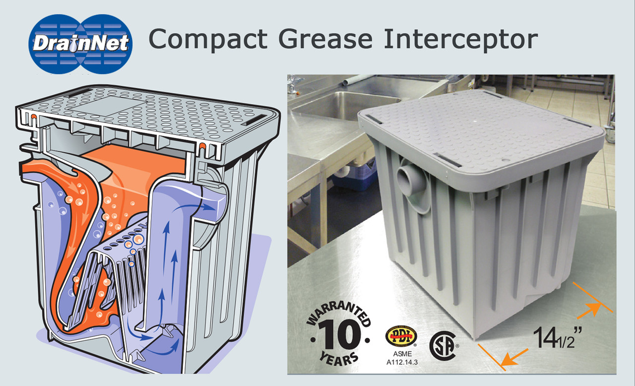 Compact Grease Interceptor 20 LB /  10 GPM