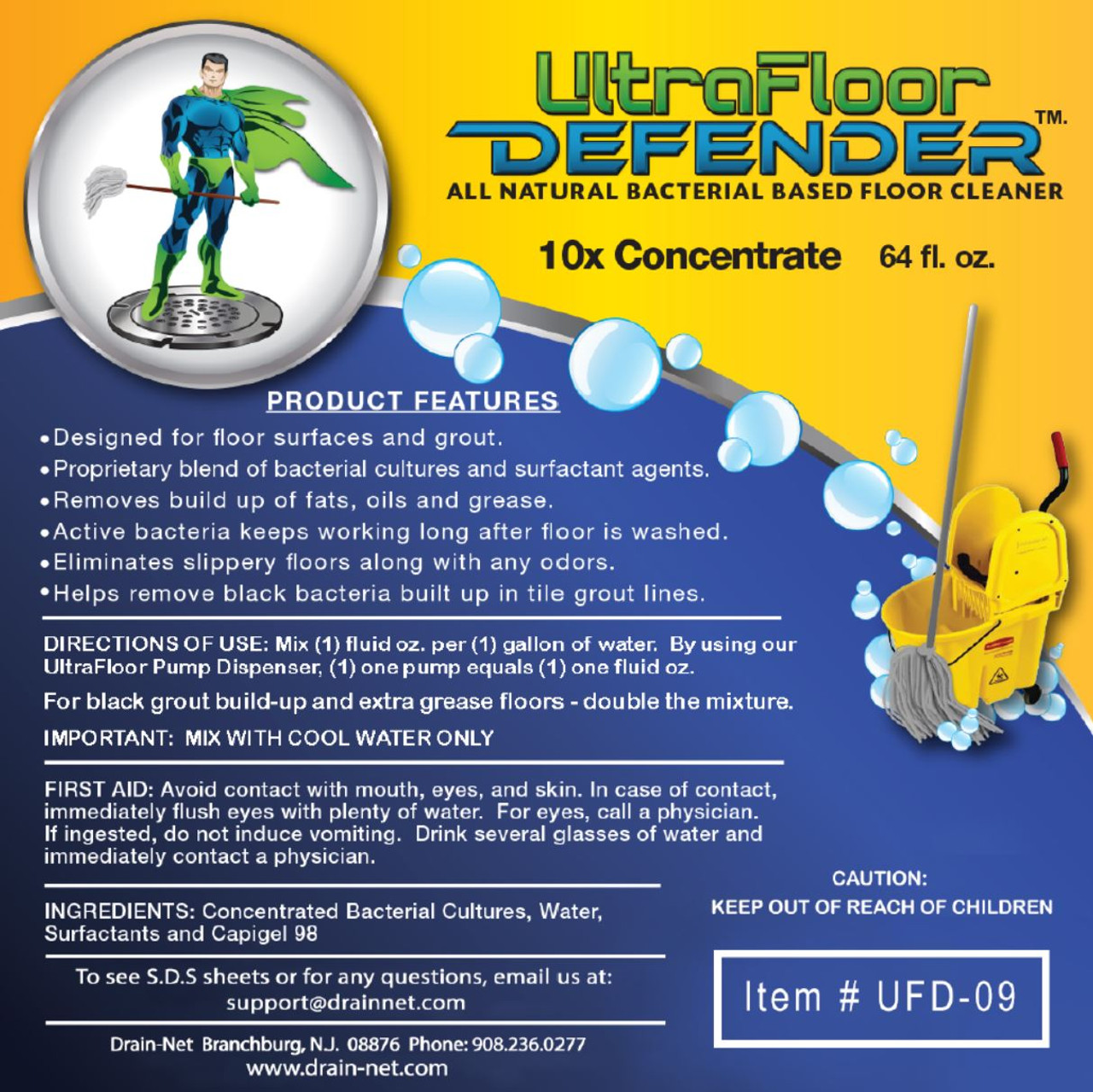 Drain Defender Floor Cleaner UFD-09