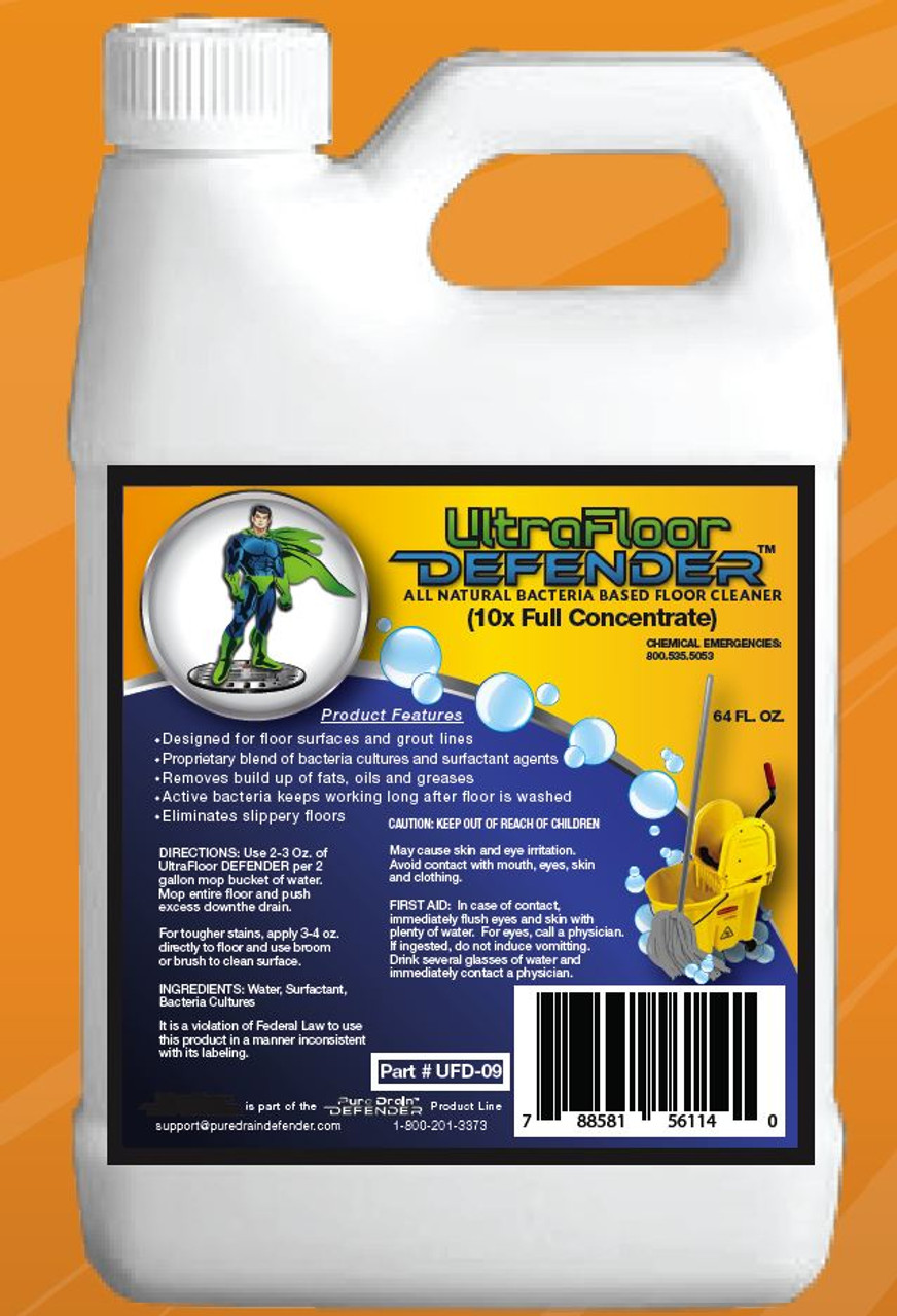 UltraFloor DEFENDER - Bio-Based Floor Cleaner