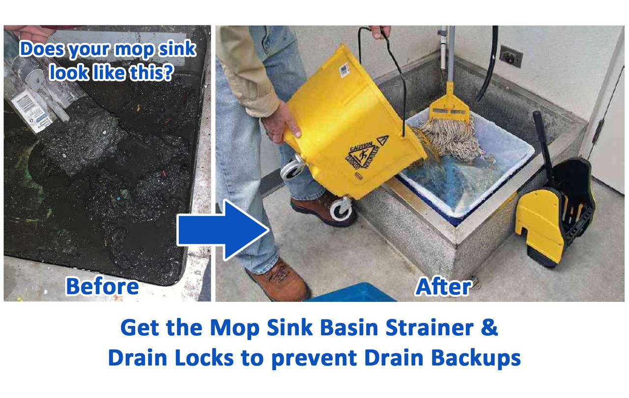 drain clog in mop sink