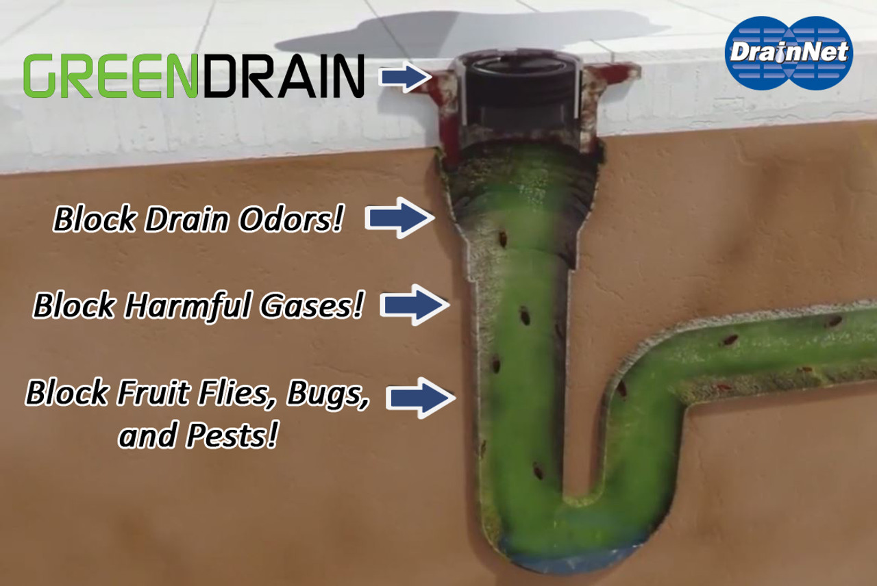 3-1//2 Green Drain Waterless Trap Seal
