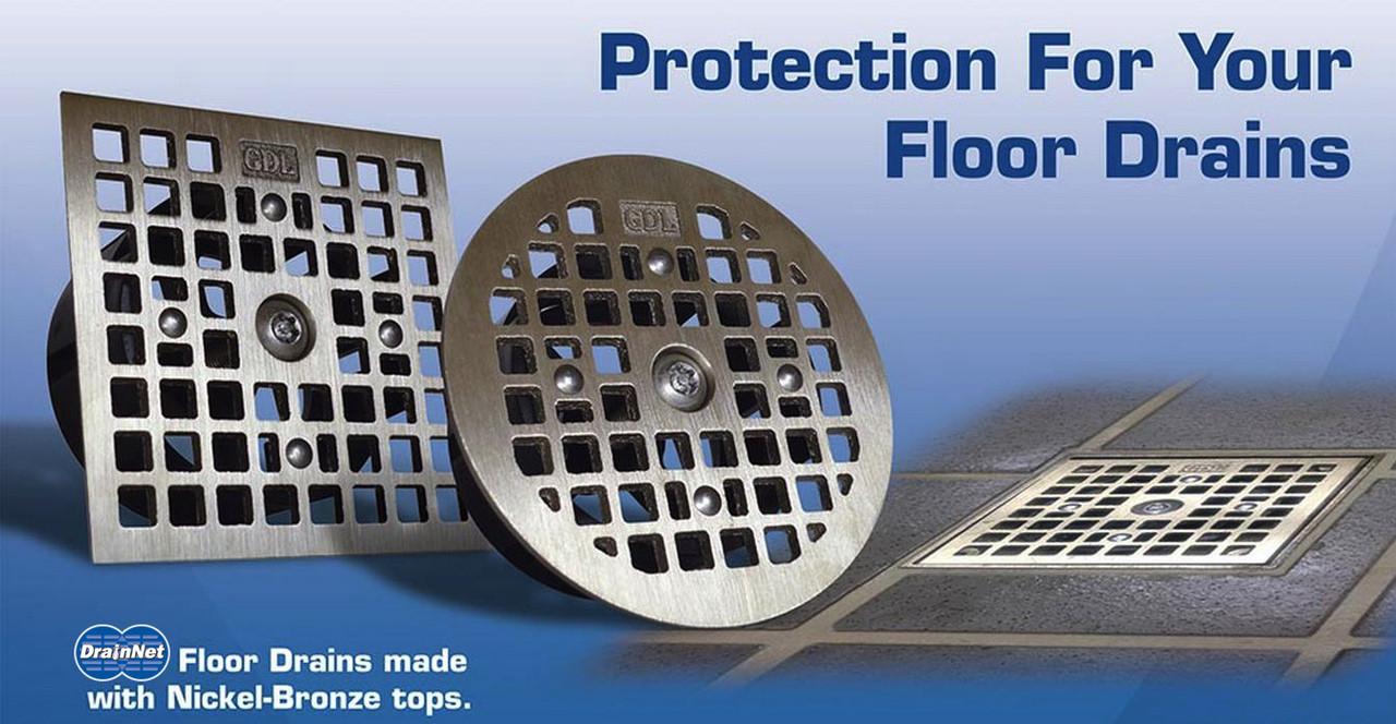 "Guardian Floor Drain-Lock Square - Smith 4.70"" Style"