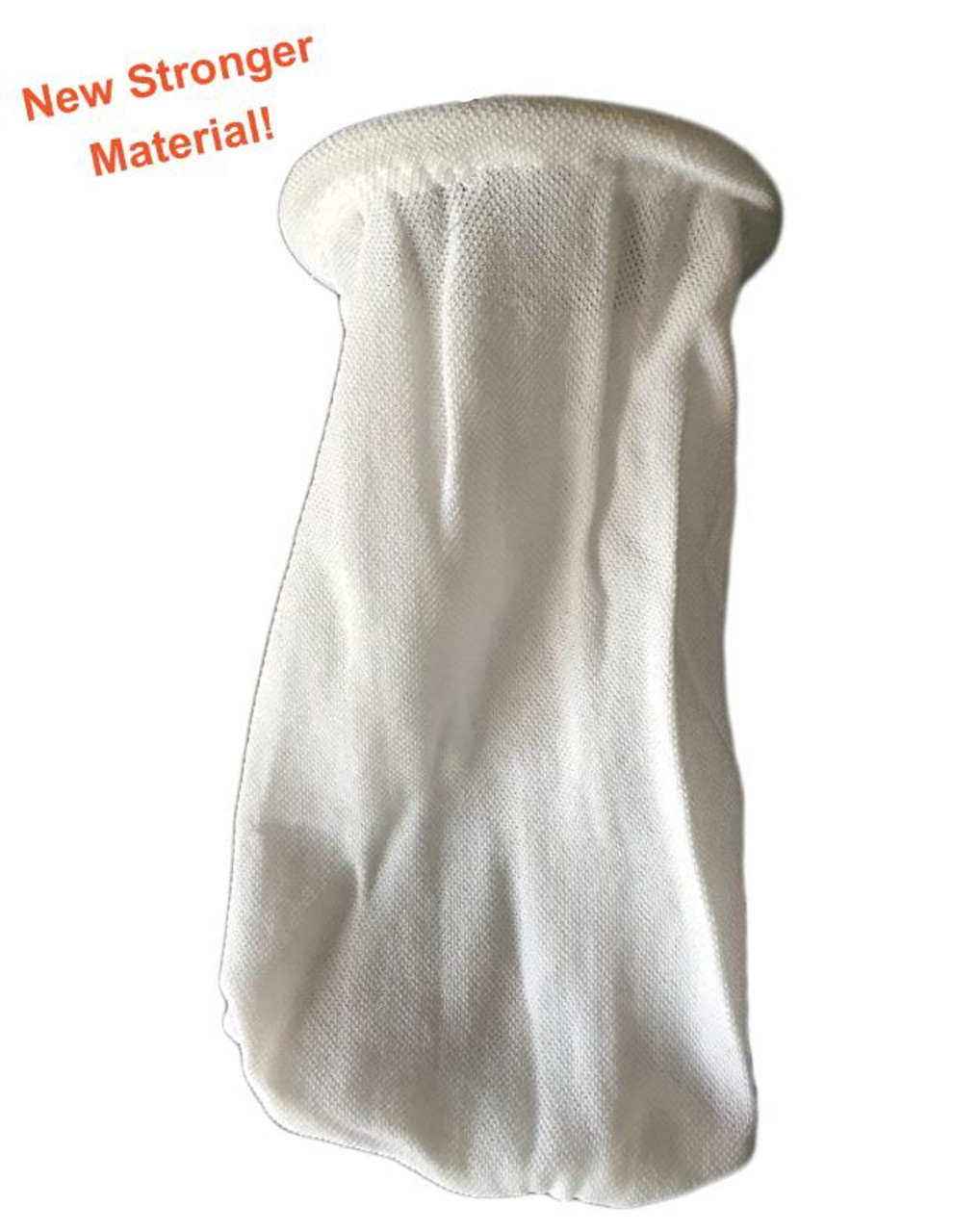Solid Drain Sock (white) - 2 inch