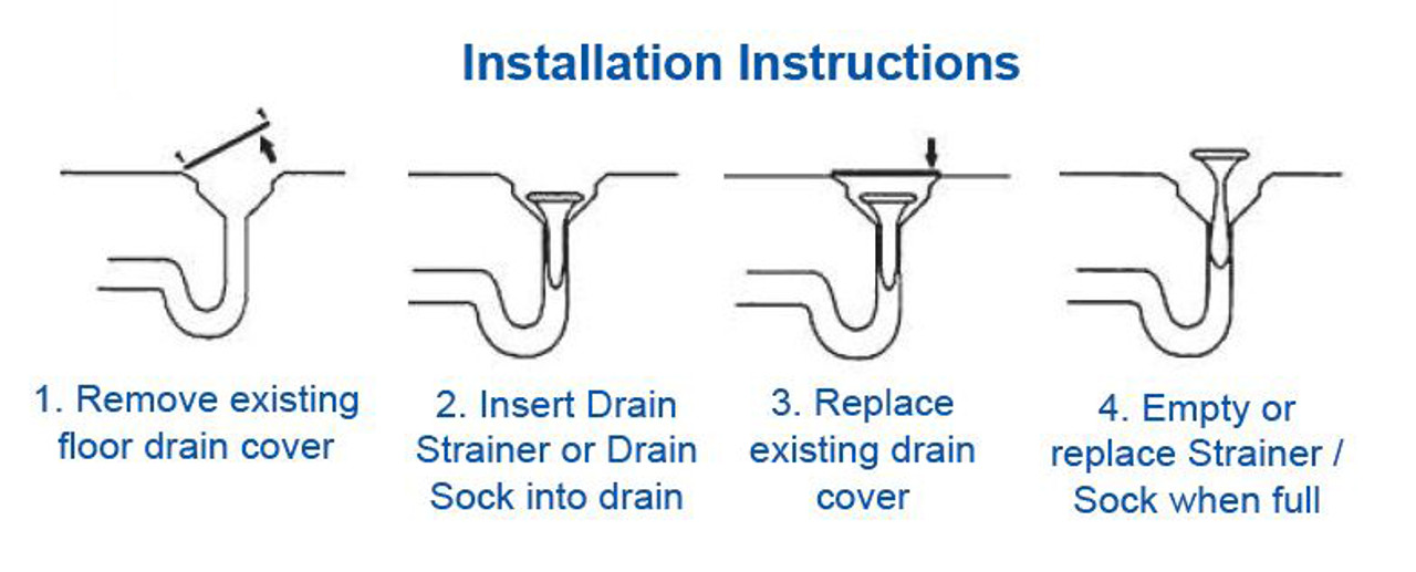 Solid Drain Sock (white) - 4 inch