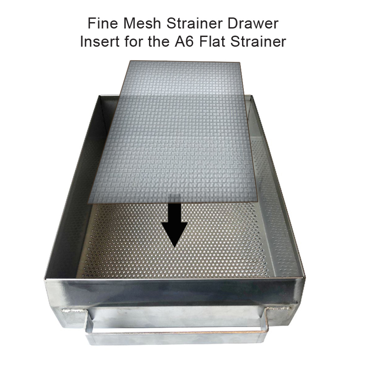 Fine Mesh Screen Insert for the A6 Flat Strainer