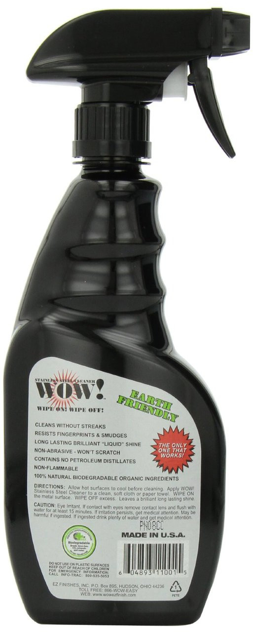 WOW! Stainless Steel Cleaner 16 oz Spray Bottle