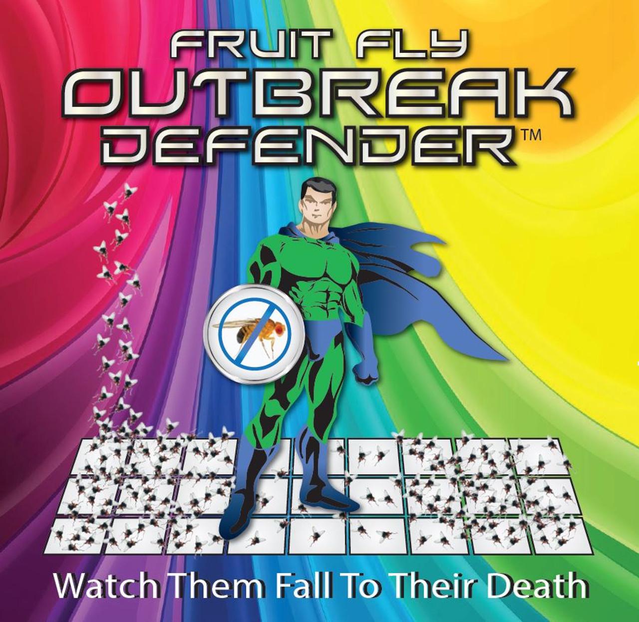 Outbreak Defender (Food-Safe Fruit Fly Control) Includes FOUR 16 oz bottles plus heavy duty wide mist sprayer