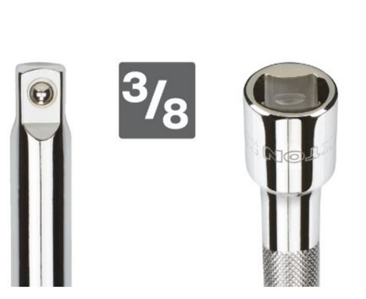6-inch extension bar for hard-to-reach fasteners