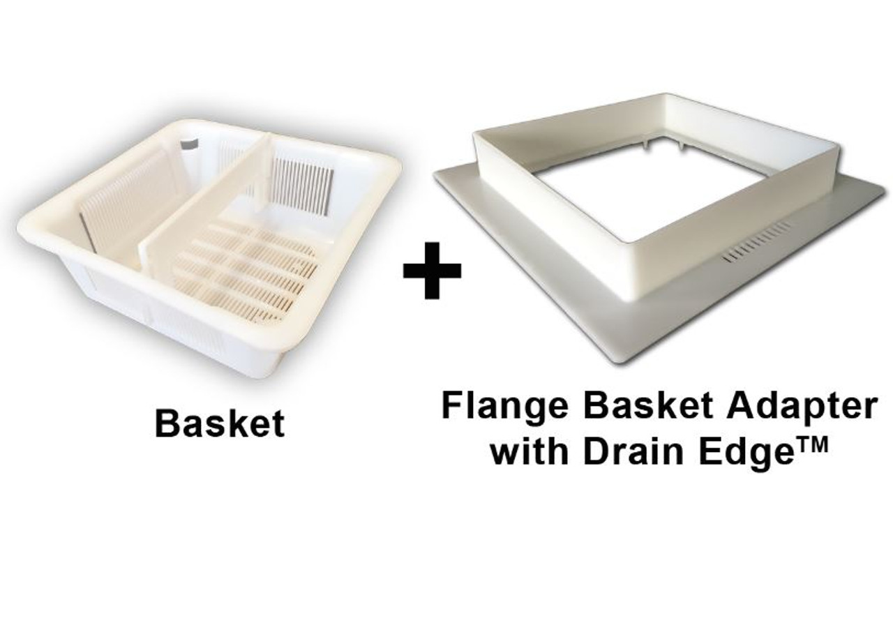 8.5 inch Floor Sink Basket & 12 inch Flange Assembly with Drain Edge (TM)
