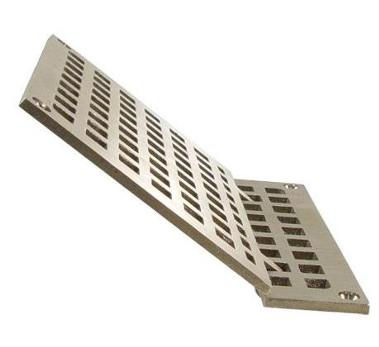 Square Hinged Drain Grate 7 3/8 inch Brass Floor Drain Strainer