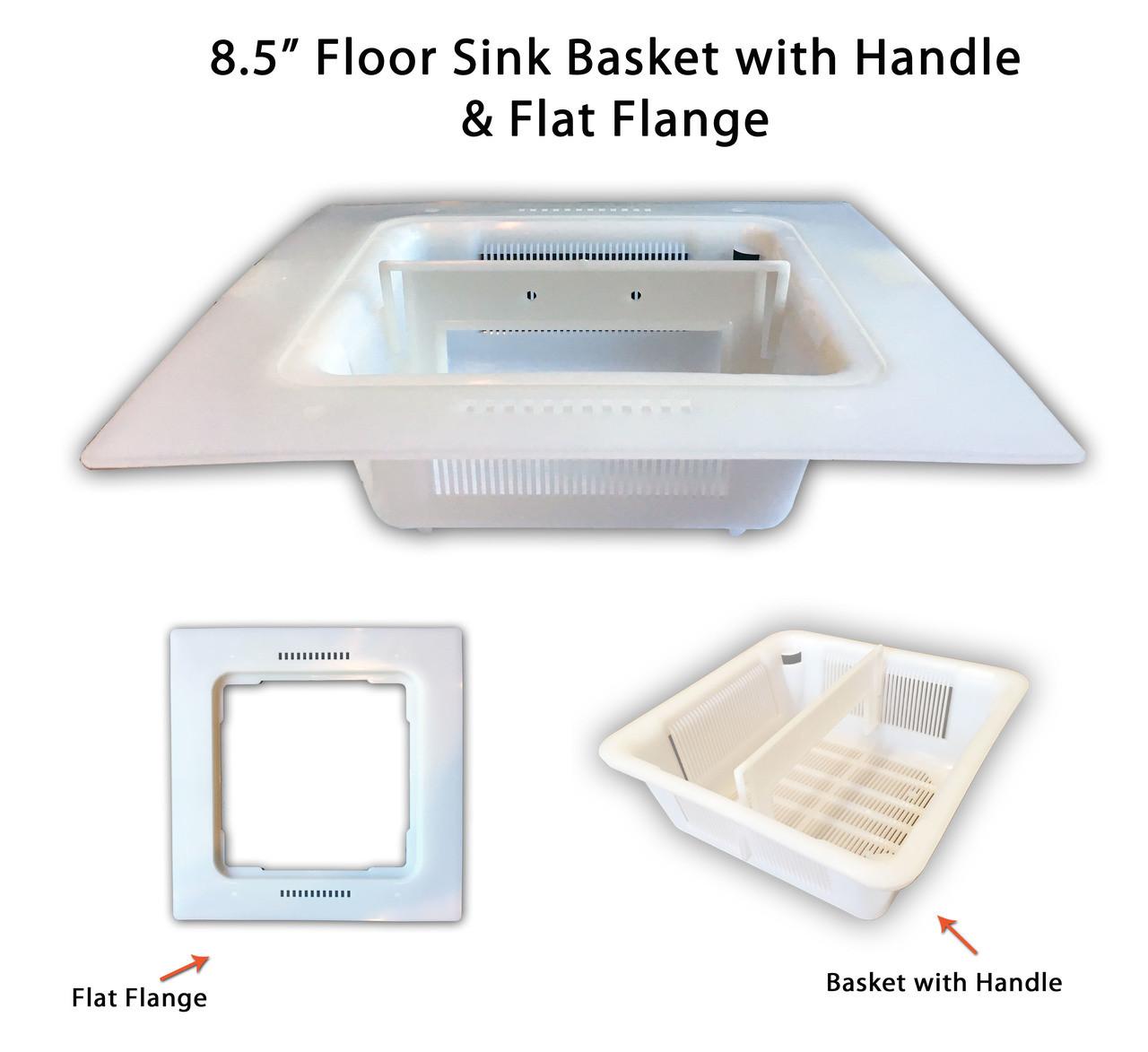 8.5 IN Floor Sink Basket & 12 IN Flange Adapter