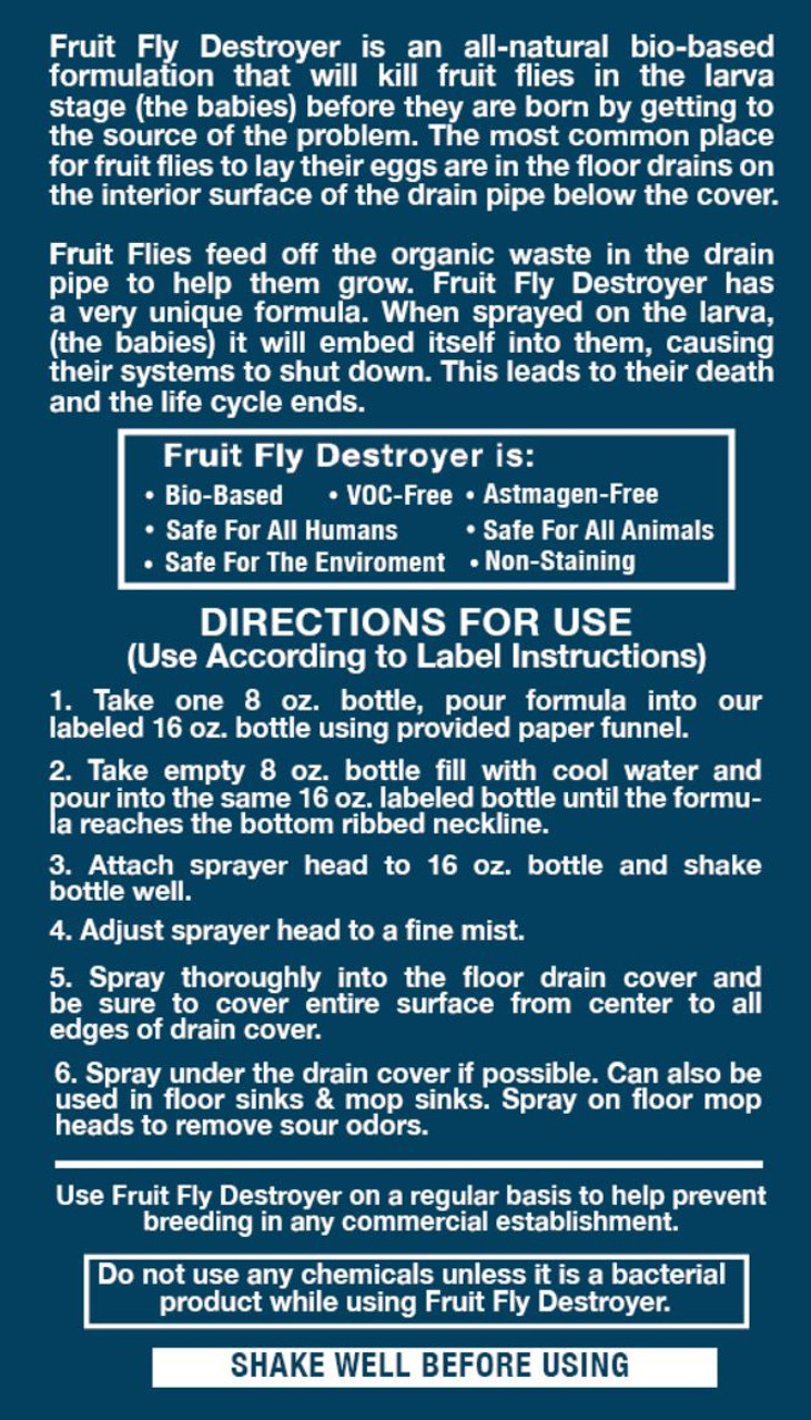 How to use Fruit Fly Destroyer  - commercial and residential pest control