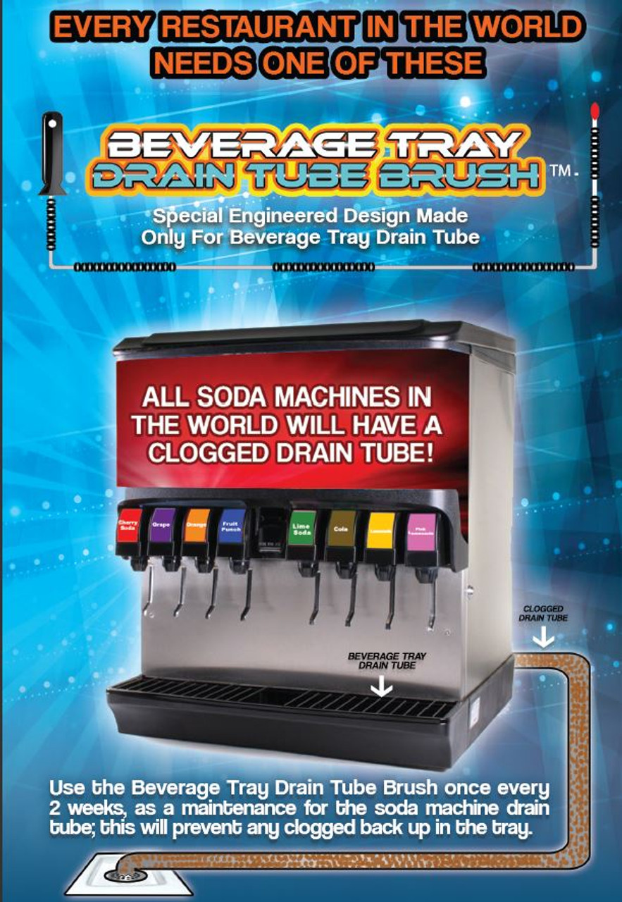 Soda Fountain Drain Tube Brush