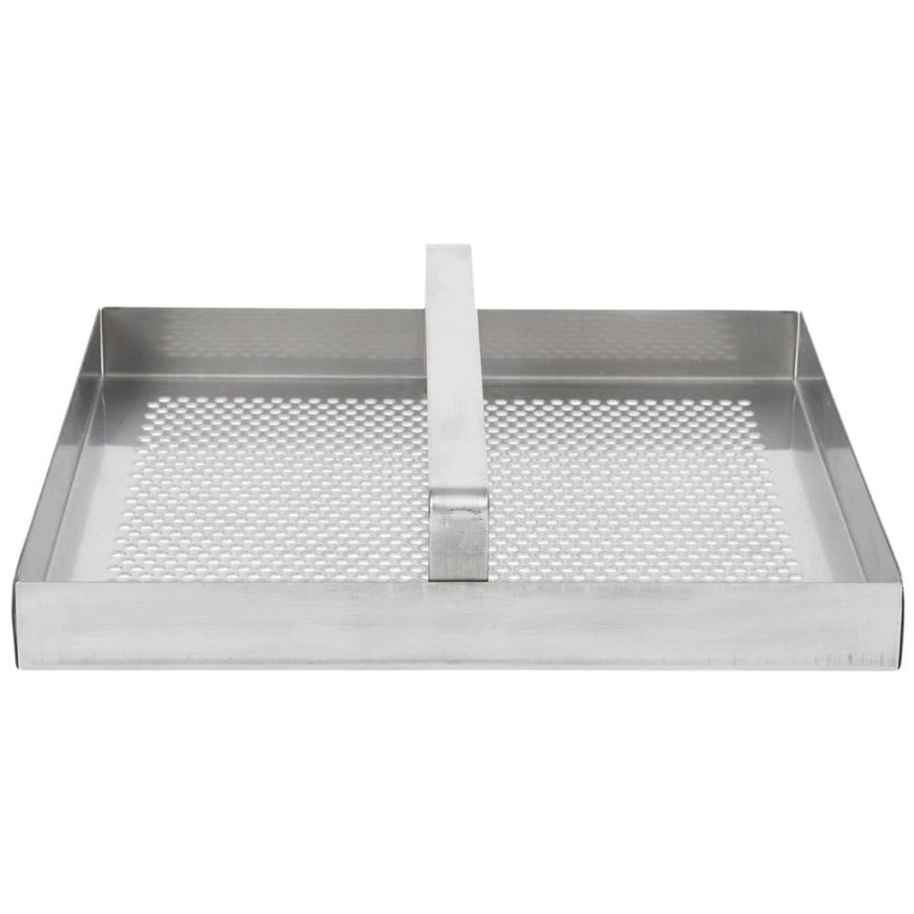"Stainless Steel Floor Sink Strainer with 3/4"" Lip - 7 3/4"" x 7 3/4"""