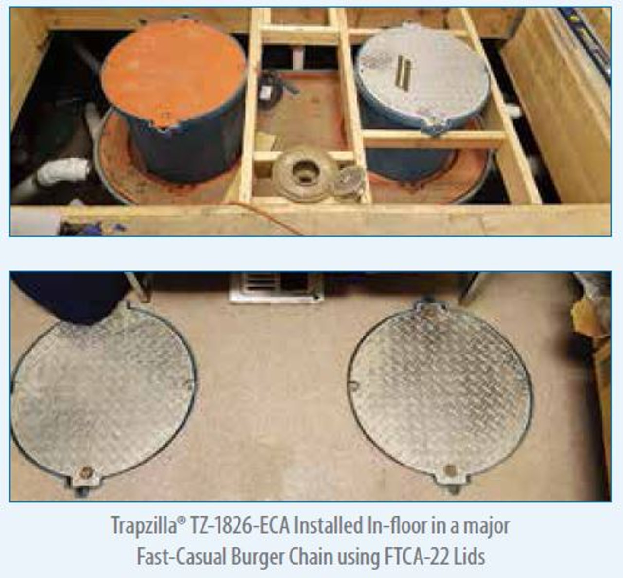 100 GPM Trapzilla Grease Interceptor, TZ-1826, 1,826 lbs Grease Capacity