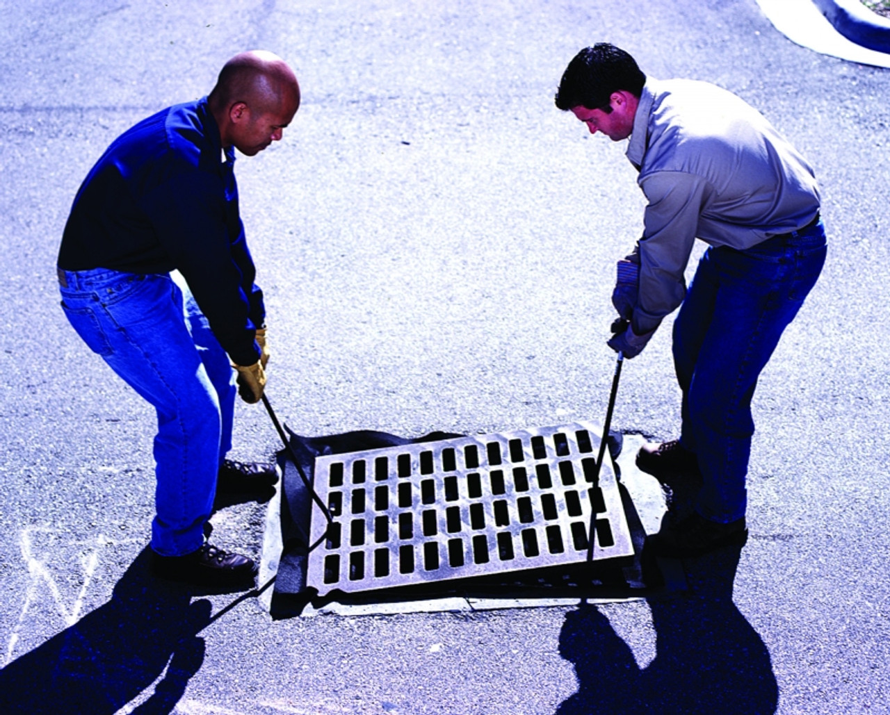 Grate Hook to lift storm drain grates