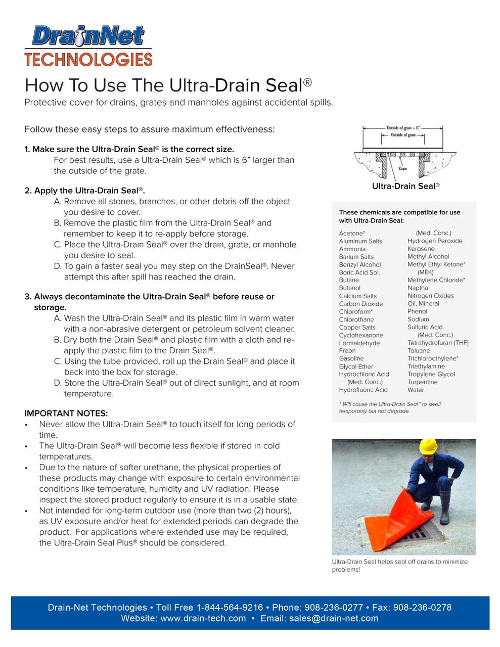 Ultra-Drain Seal - Polyurethane Drain Cover