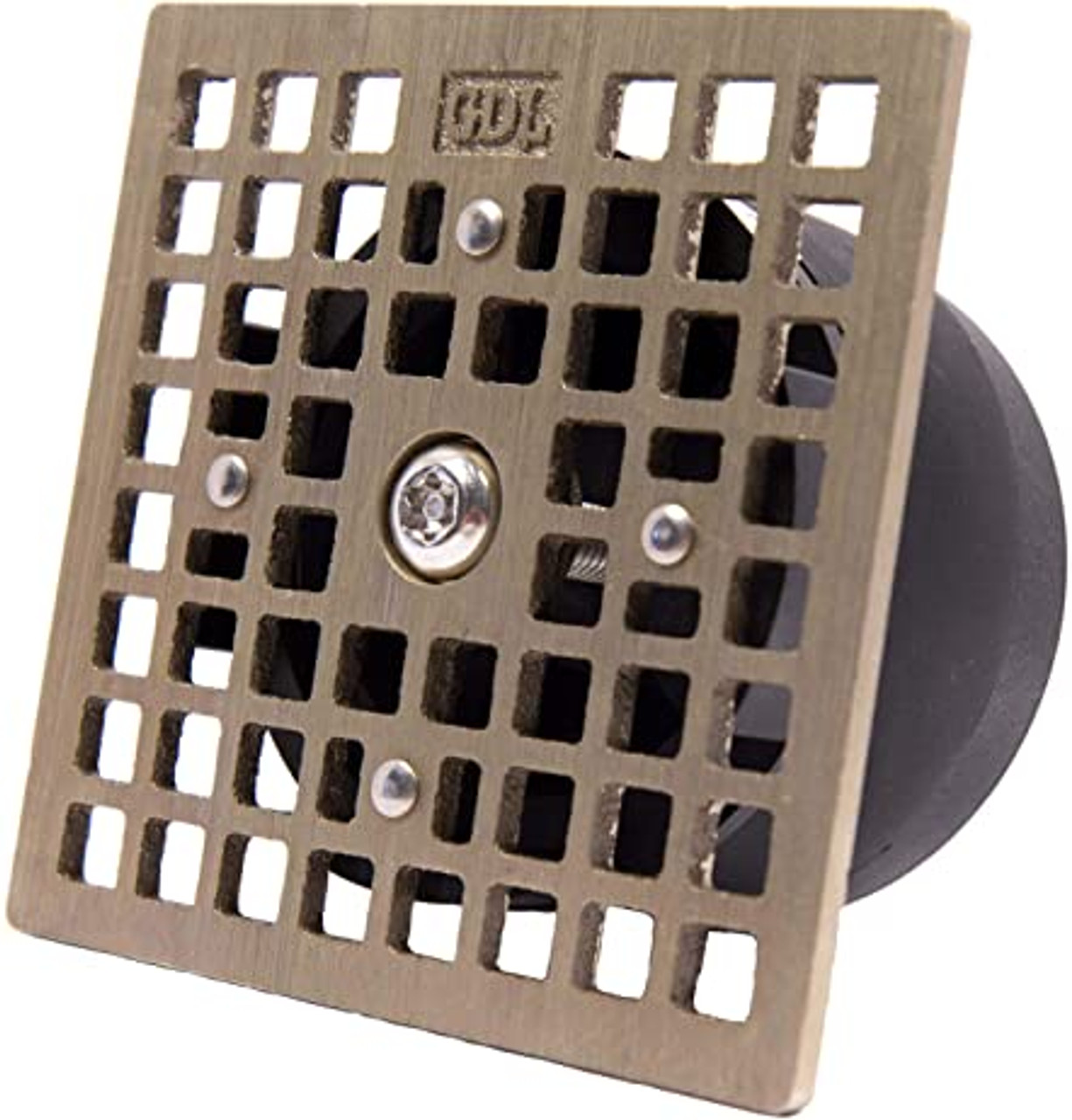 """LockOut - Locking Floor Drain Replacement Grate With Odor and Bug Blocking Valve   Blocks Sewer Gas Odors, Bugs, and Locks With A Single Bolt - Square Smith 4.7"""""""