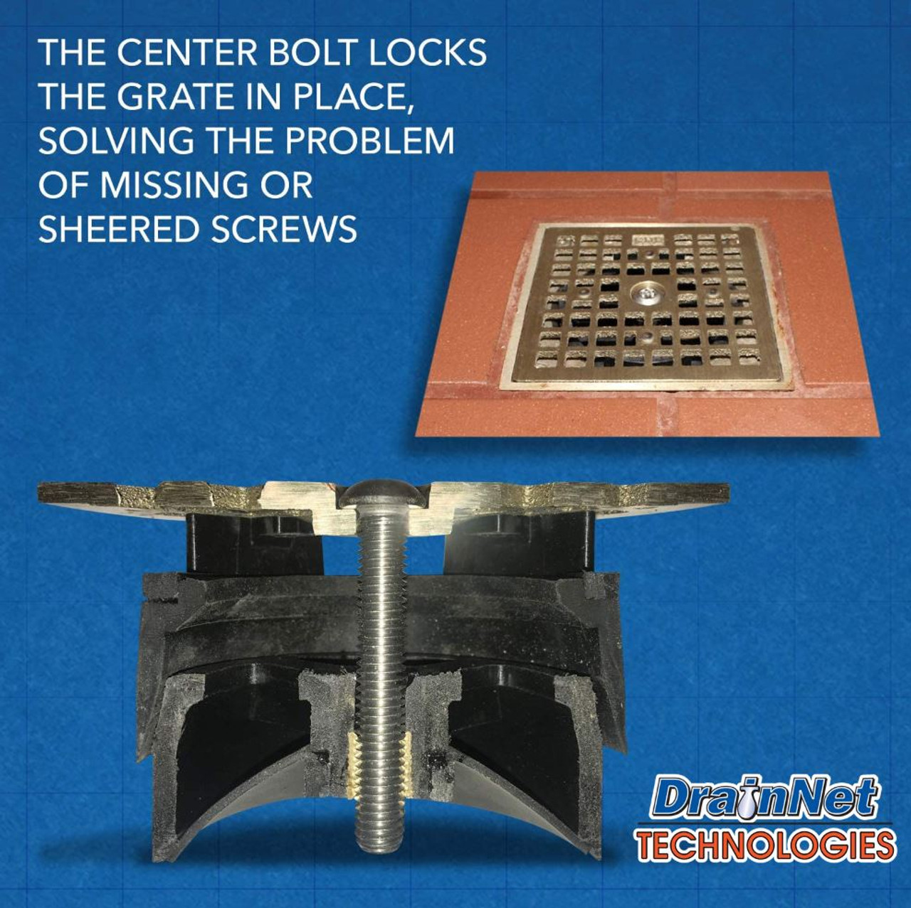 LockOut - Locking Floor Drain Replacement Grate With Odor and Bug Blocking Valve   Blocks Sewer Gas Odors, Bugs