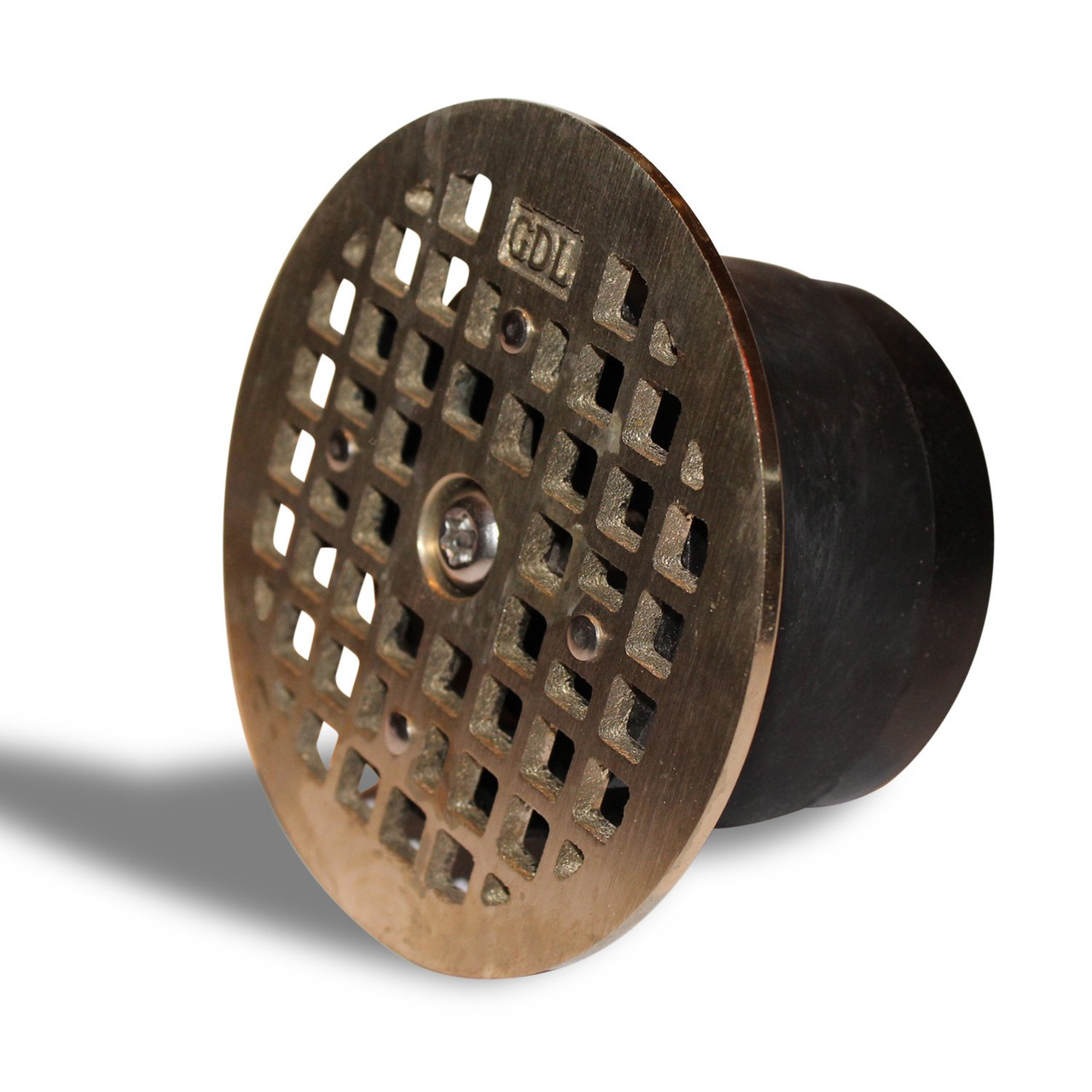 LockOut - Locking Floor Drain Replacement Grate With Odor and Bug Blocking Valve | Blocks Sewer Gas Odors, Bugs, and Locks With A Single Bolt - Round Smith 4.7""