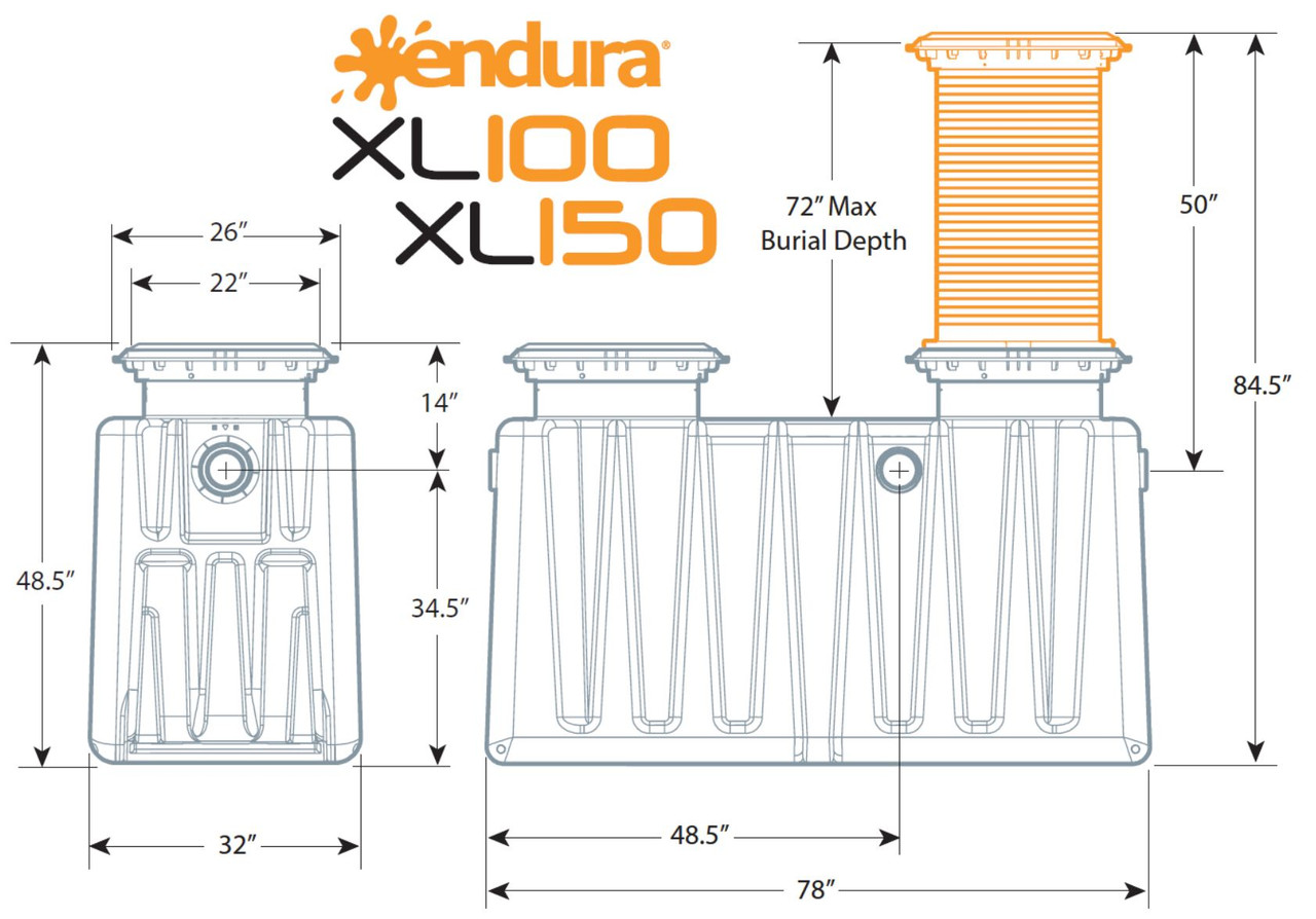 Endura XL Grease Interceptor 150 GPM