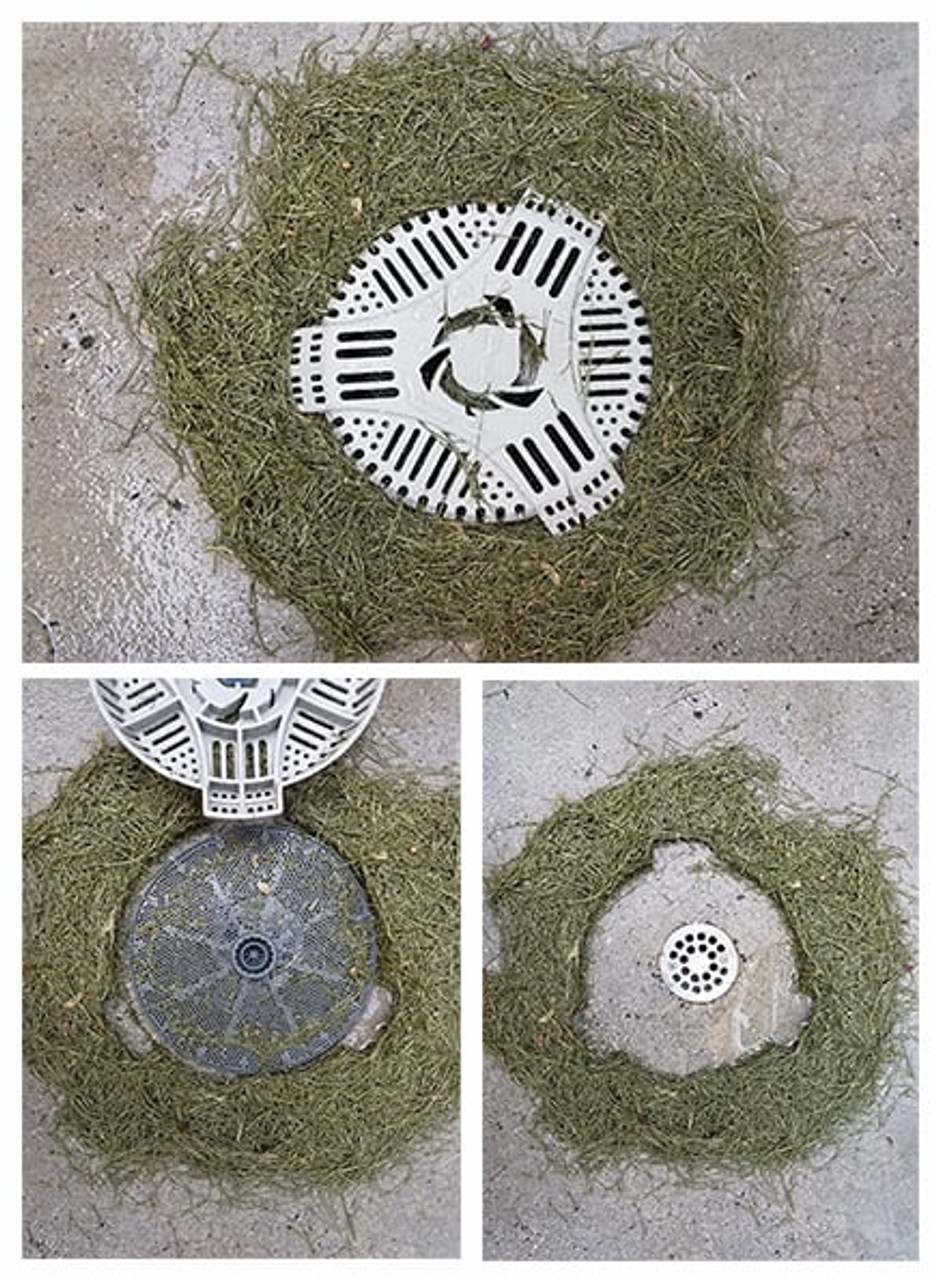 Outdoor Stairwell Drain Cover and Filter