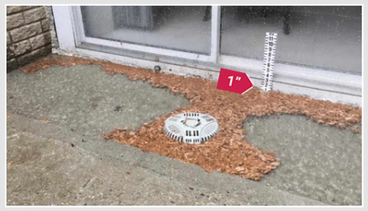 heavy rain outdoor basement drain cover