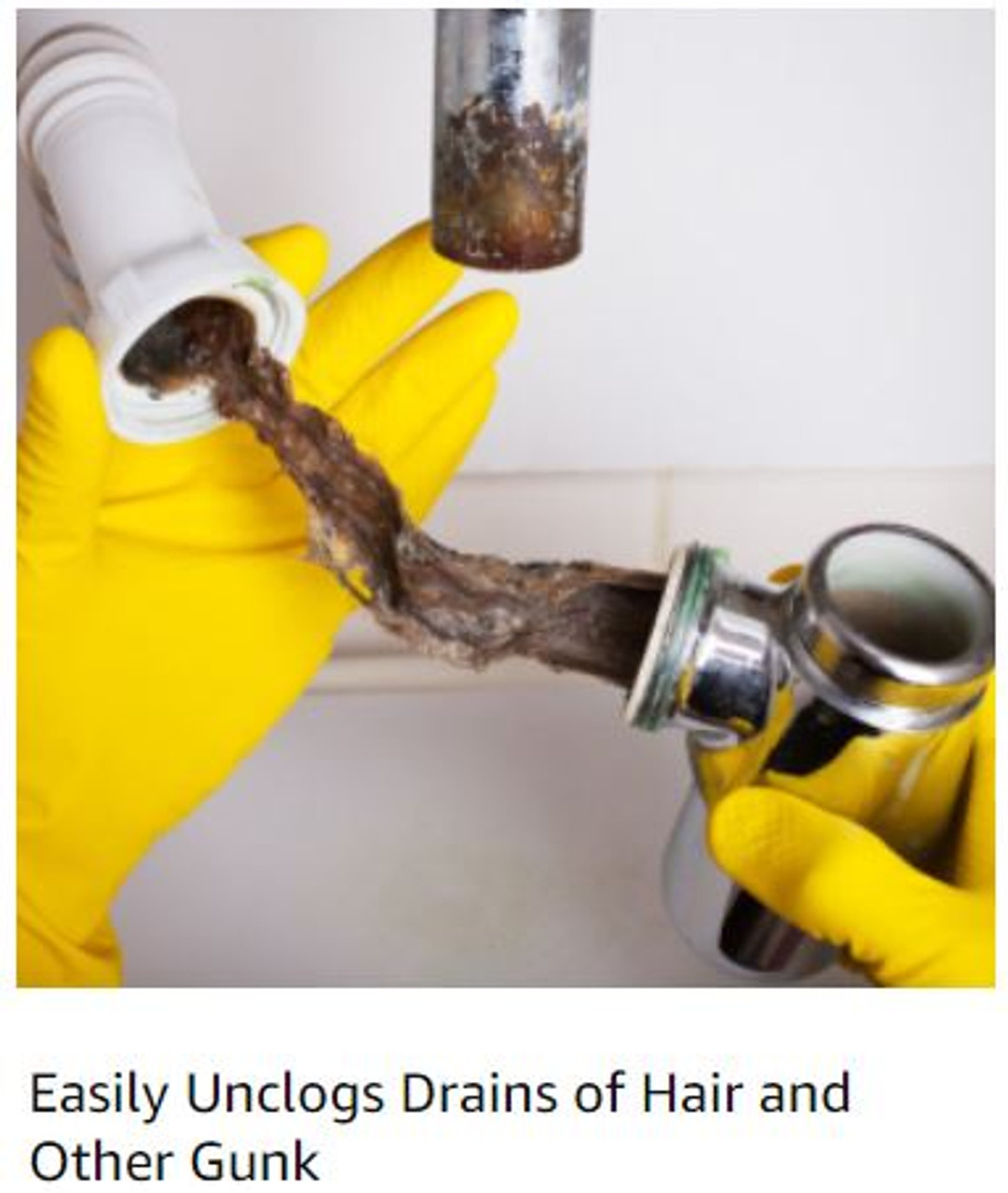 Got hair in your drain? Unclog it with a drain brush