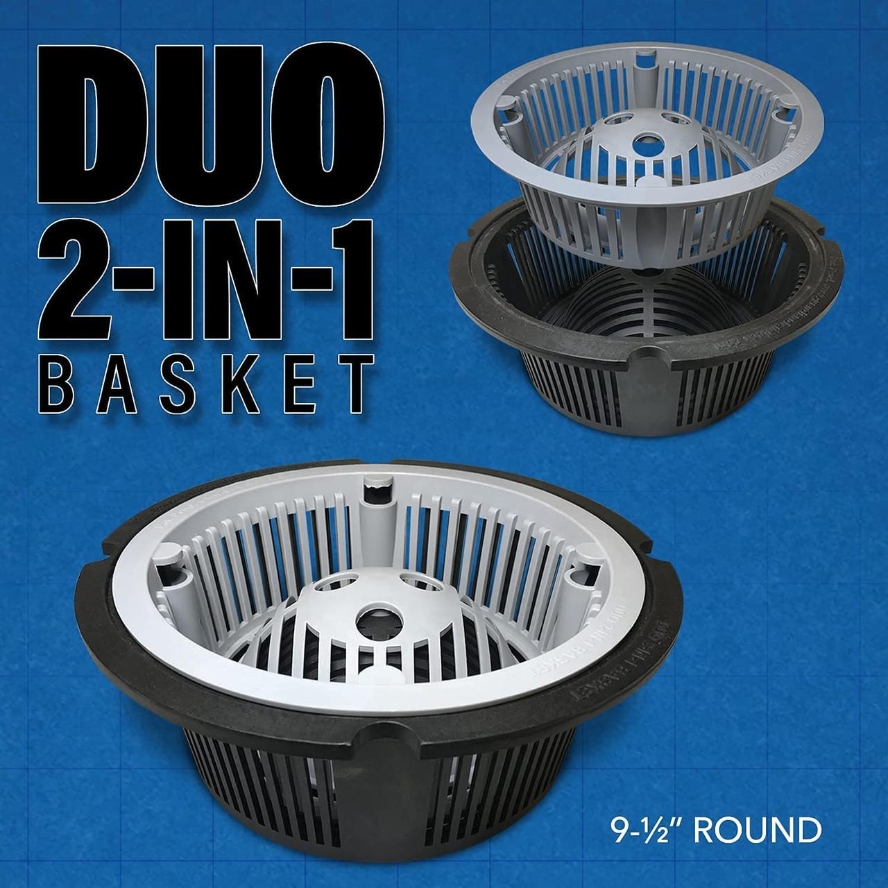 "Round floor sink basket 9.5"" Duo"