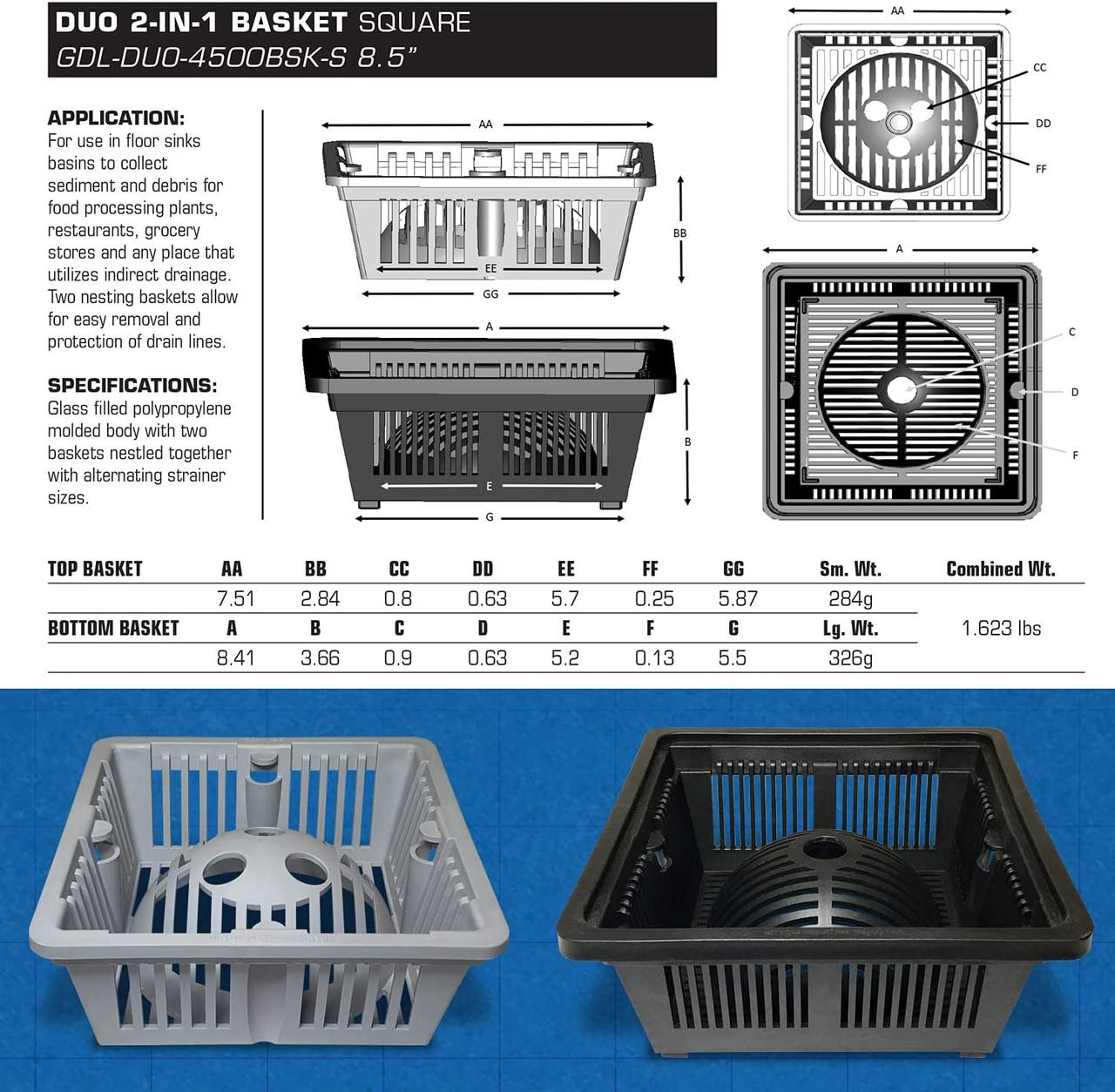"""The Locking Duo Basket - 8.5"""""""