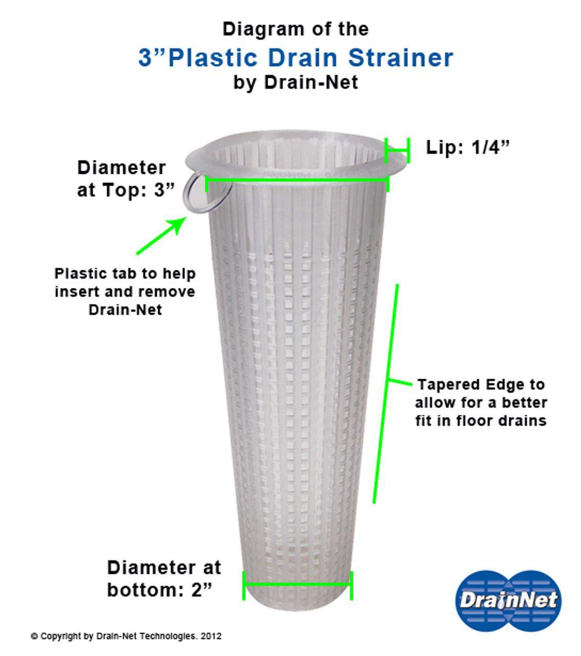 """Franklin Machine 102‑1155 ‑ 3"""" OD Floor Drain Strainer"""