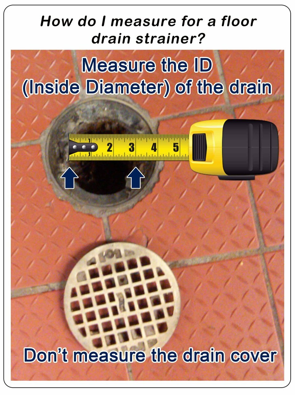 How to measure a floor drain