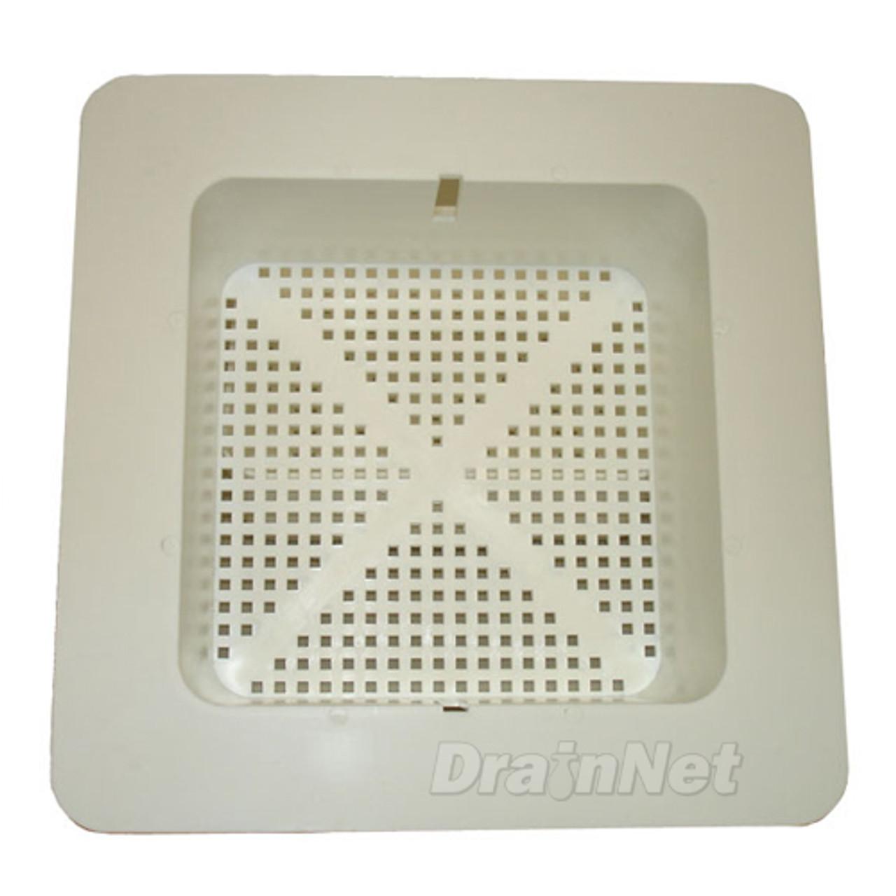 Commercial - 8 1/2 inch Square Floor Sink Basket w/ Flange