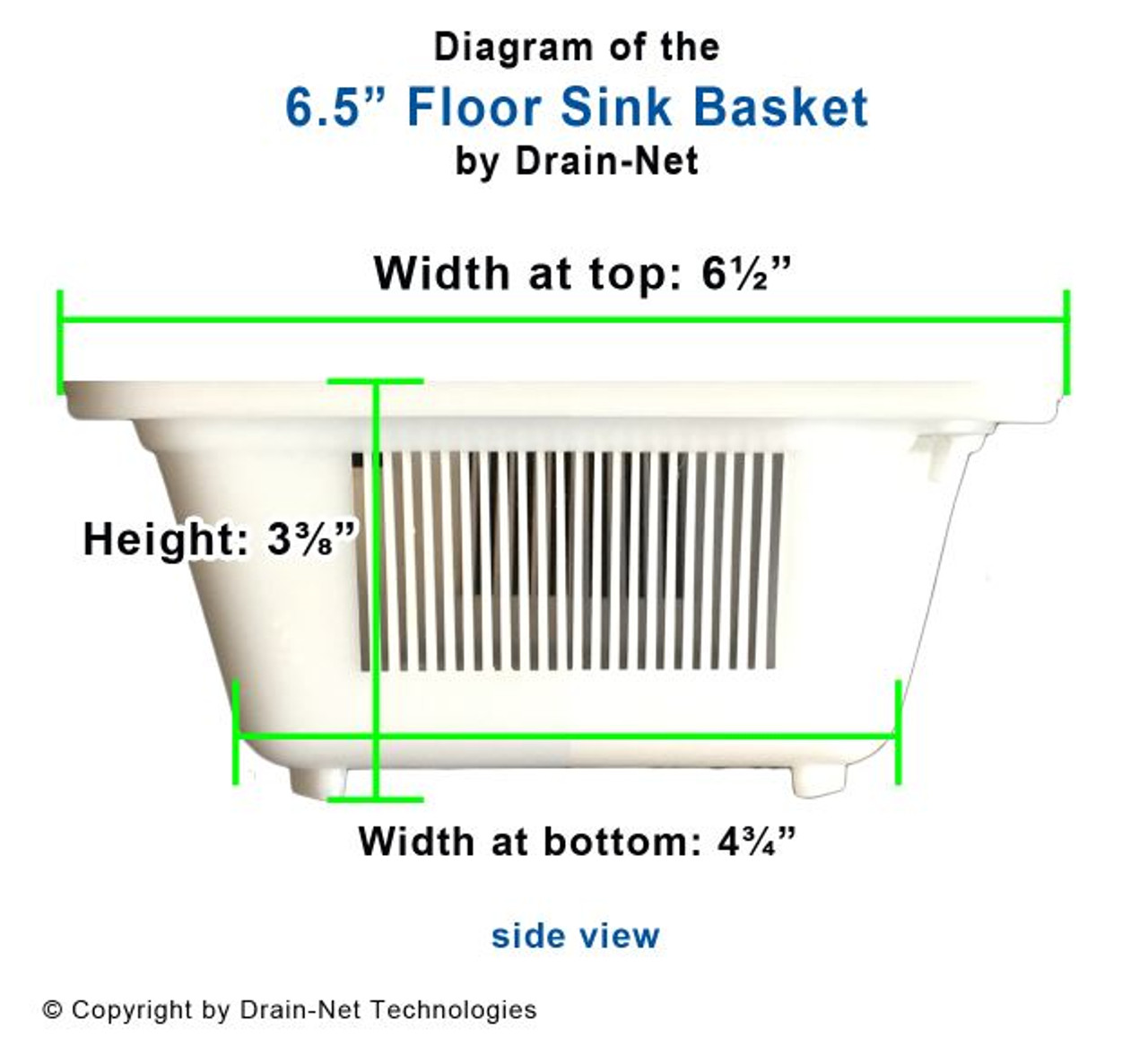 DN65H Spec Sheet - Cover drains and prevent plumbing backups