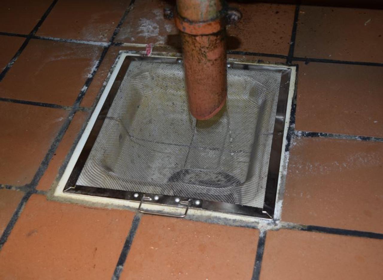 "11"" Square Fine Mesh Floor Drain Basket"