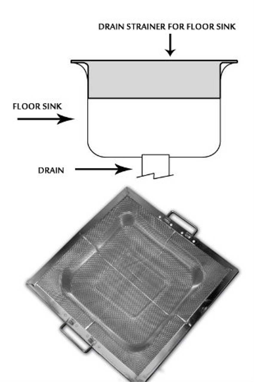 Drop-In Floor Sink basket, metal