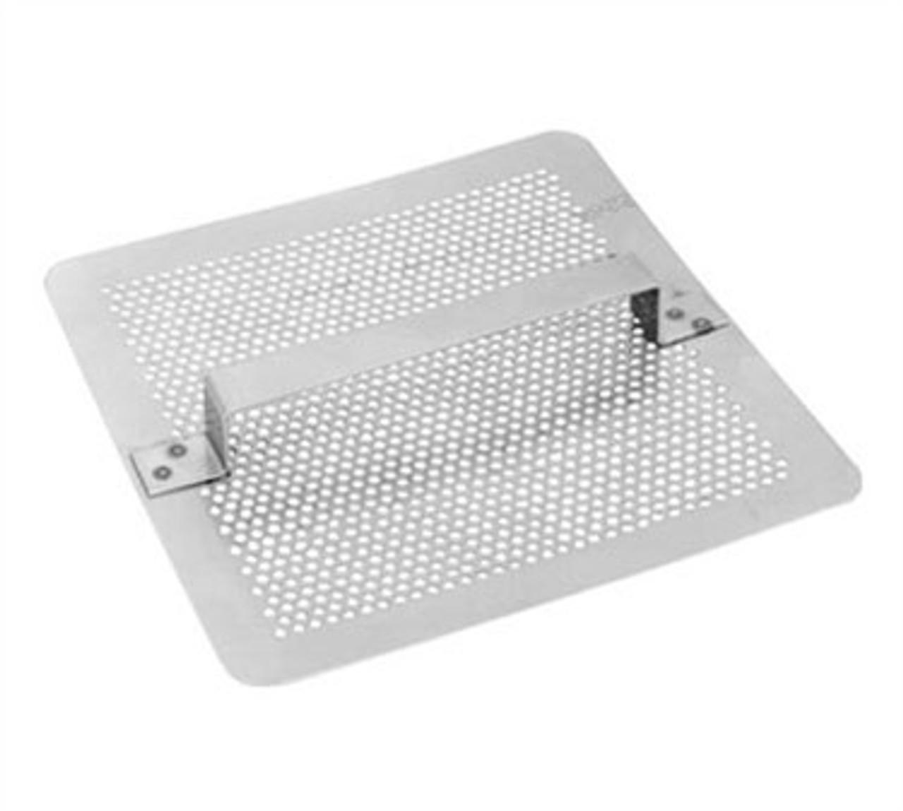 7 3/4 inch Square Flat Floor Drain Strainer