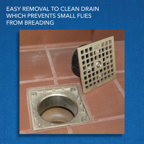 "Guardian Floor Drain-Lock Square - Smith 4.70"" Style"