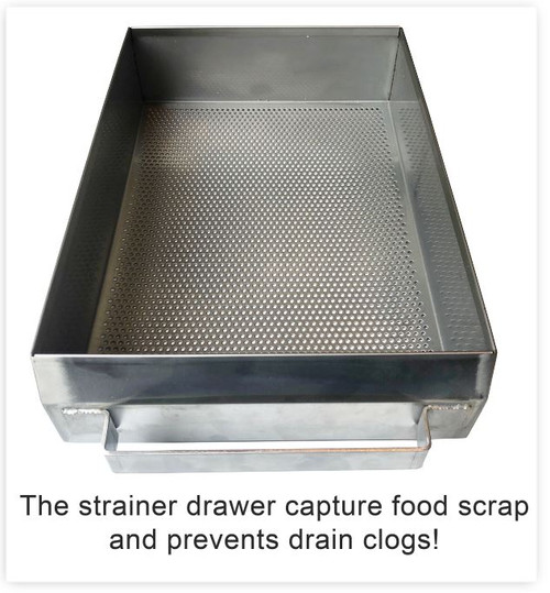 Garbage Disposal Drain Strainer with Drain Plate (Standard Legs)