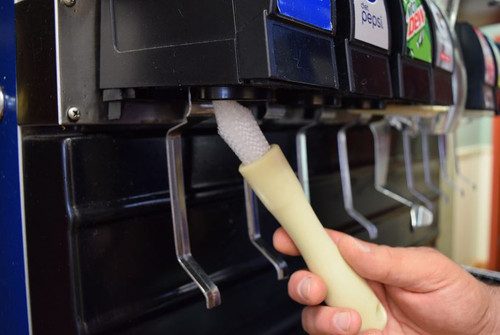 Nylon bristles specifically designed to clean beverage fountain dispensers