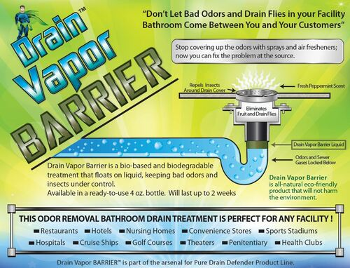 Drain Vapor Barrier