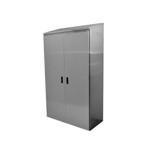 Double Width Mop Sink Cabinet, Stainless Steel