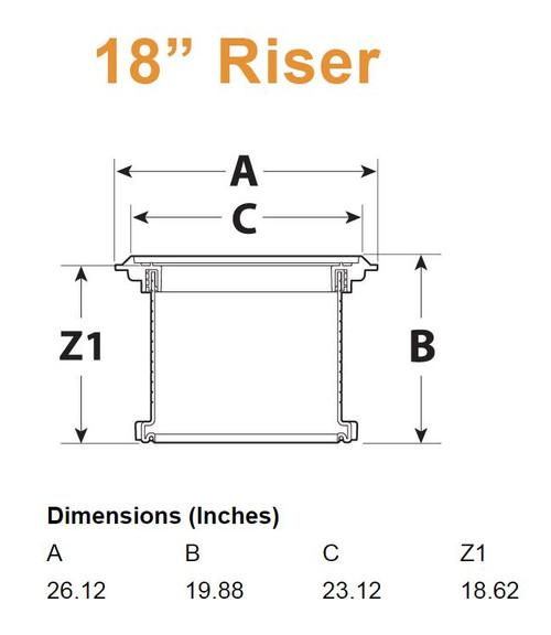 "18"" Extension Riser Pair for XL Interceptor"
