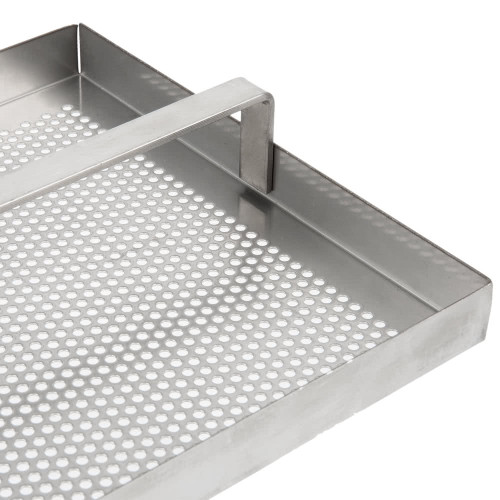 "Stainless Steel Floor Sink Strainer with 3/4"" Lip - 7 3/4"" x 7 3/4"""