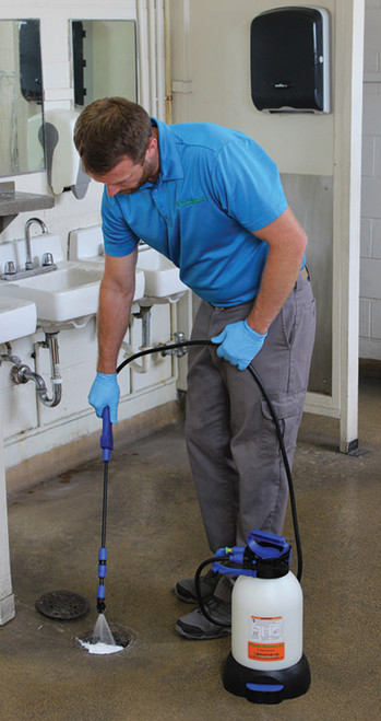 Clean drains with foam cleaner